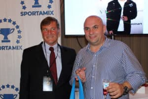 LEIGH STEINBERG AND GENE SHEYNIS WITH SPORTAMIX